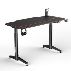 Scrivania gaming nera/rossa - Scrivania elettrica - 140x66 cm