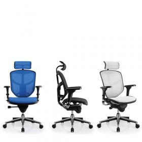 Sedia da ufficio ergonomica COMFORT – EnjoyClassic – (con poggia testa) - più colori