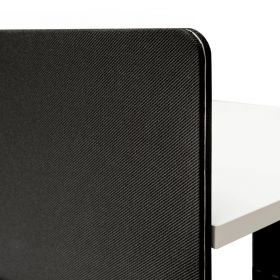 Pannello divisorio scrivania regolabile doppia 180x80 cm - Nero