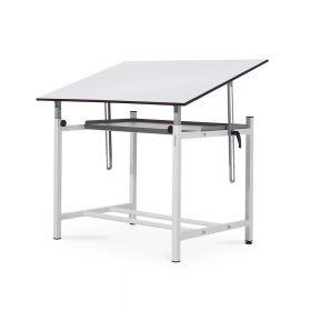 Tavolo da disegno regolabile professionale - mensola porta-oggetti inclusa - 100x150 cm