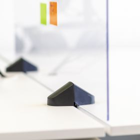 Pannello divisorio / Schermo in plexiglass per scrivania - Incl. morsetti per doppia scrivania - 58x160 cm