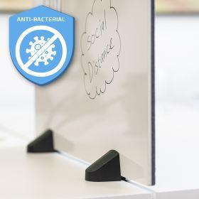 Pannello combi lavagna bianca / bacheca - Incl. morsetti per scrivania doppia - 58x120 cm