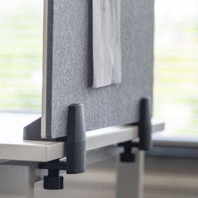 Pannello combi lavagna bianca / bacheca - Incl. morsetti per scrivania singola - 58x160 cm